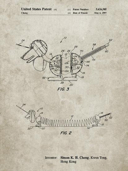 PP1041-Sandstone Slide Rule Patent Poster-Cole Borders-Giclee Print