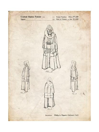 PP1054-Vintage Parchment Star Wars Bib Fortuna Patent Poster-Cole Borders-Giclee Print