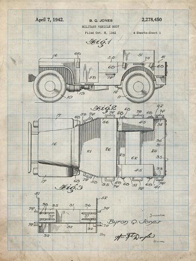 PP11 Antique Grid Parchment-Borders Cole-Giclee Print