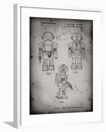 PP1101-Faded Grey Toby Talking Toy Robot Patent Poster-Cole Borders-Framed Giclee Print