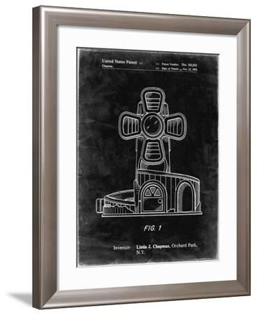 PP1108-Black Grunge Toy Windmill Poster-Cole Borders-Framed Giclee Print