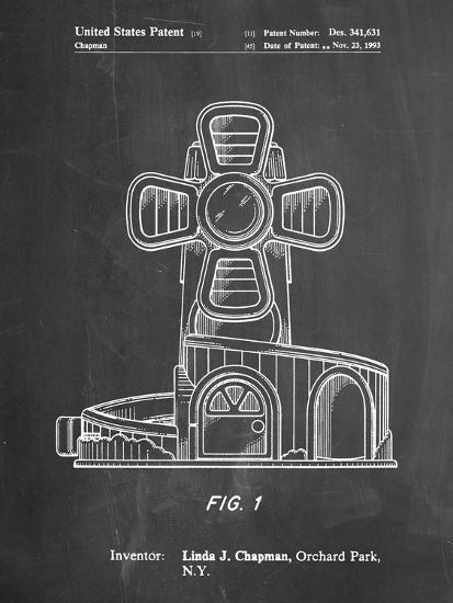 PP1108-Chalkboard Toy Windmill Poster-Cole Borders-Giclee Print