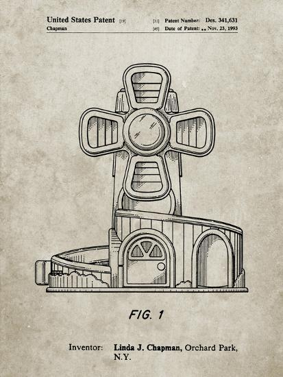 PP1108-Sandstone Toy Windmill Poster-Cole Borders-Giclee Print