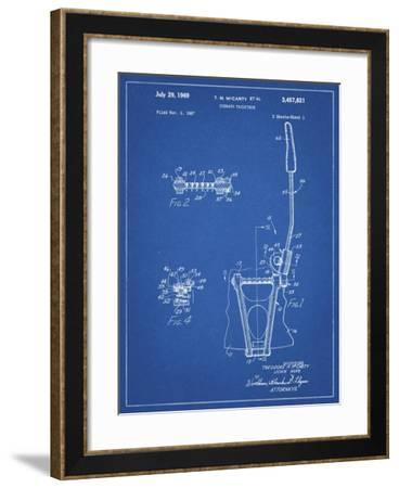 PP1122-Blueprint Vibrato Tailpiece Patent Wall Art Poster-Cole Borders-Framed Giclee Print