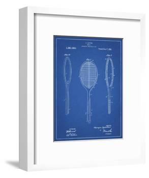 PP1128-Blueprint Vintage Tennis Racket Patent Poster-Cole Borders-Framed Giclee Print