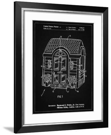 PP1132-Vintage Black Walk-in Child's Playhouse Poster-Cole Borders-Framed Giclee Print