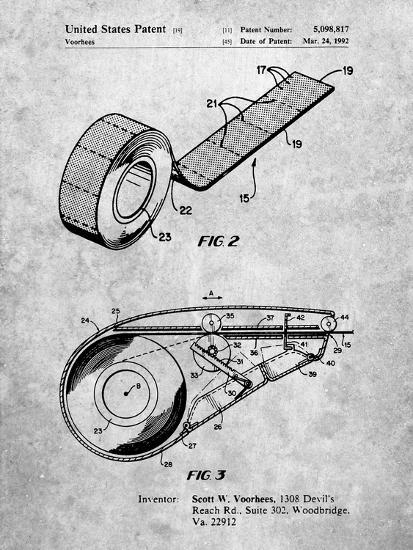 PP1133-Slate White Out Tape Patent Poster-Cole Borders-Giclee Print