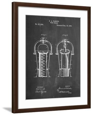 PP1138-Chalkboard Wine Cooler 1893 Patent Poster-Cole Borders-Framed Giclee Print