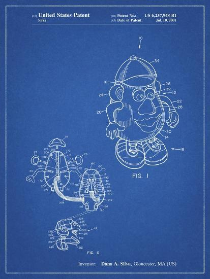 PP123- Blueprint Mr. Potato Head Patent Poster-Cole Borders-Giclee Print