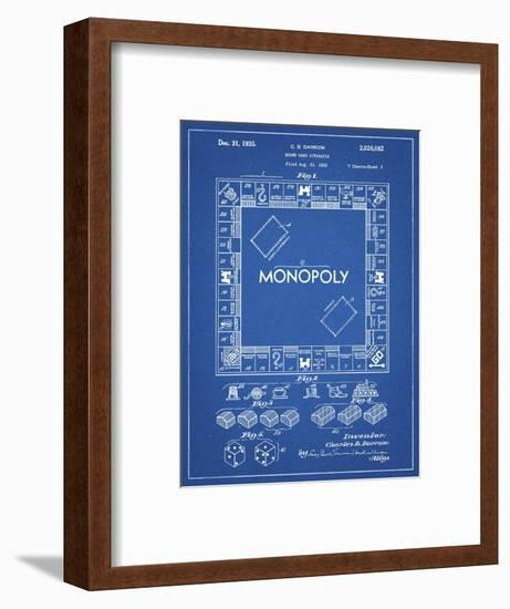 PP131- Blueprint Monopoly Patent Poster-Cole Borders-Framed Giclee Print