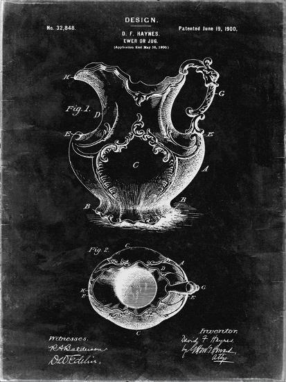 PP151- Black Grunge Antique Haynes Washing Pitcher-Cole Borders-Giclee Print