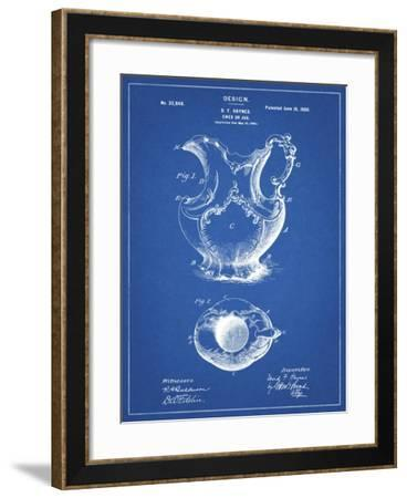 PP151- Blueprint Antique Haynes Washing Pitcher-Cole Borders-Framed Giclee Print
