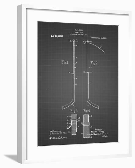 PP157- Black Grid Hockey Stick 1915 Poster-Cole Borders-Framed Giclee Print