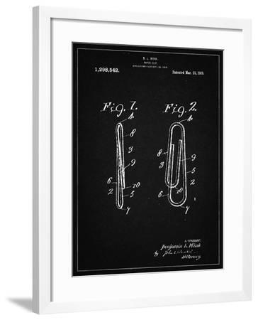 PP165- Vintage Black Paper Clip Patent Poster-Cole Borders-Framed Giclee Print