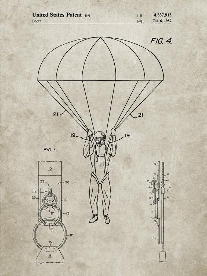 PP187- Sandstone Parachute 1982 Patent Poster-Cole Borders-Giclee Print