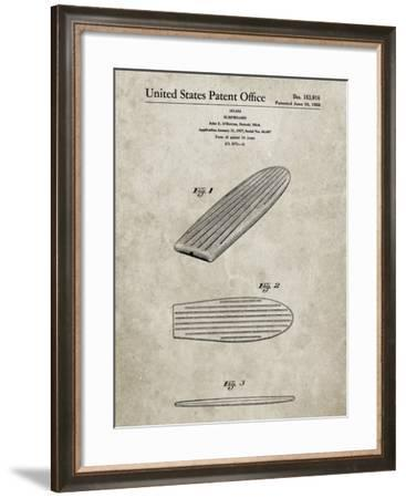 PP201- Sandstone Surfboard Poster-Cole Borders-Framed Giclee Print