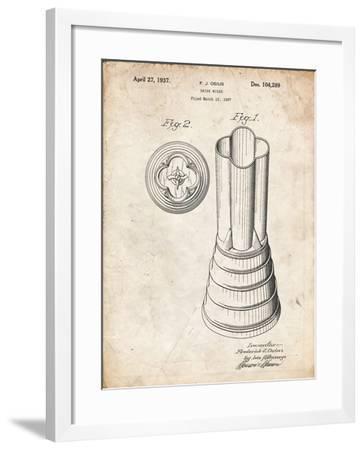 PP205- Vintage Parchment Waring Blender 1937 Patent Poster-Cole Borders-Framed Giclee Print