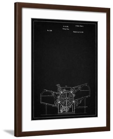 PP213-Vintage Black Printing Press Patent Poster-Cole Borders-Framed Giclee Print