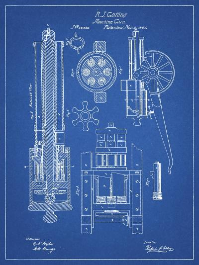 PP23 Blueprint-Borders Cole-Giclee Print