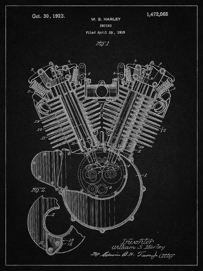 PP24 Vintage Black-Borders Cole-Giclee Print