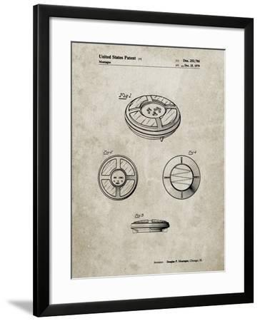 PP253-Sandstone Simon Patent Poster-Cole Borders-Framed Giclee Print