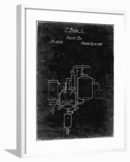 PP256-Black Grunge Pasteurized Milk Patent Poster-Cole Borders-Framed Giclee Print
