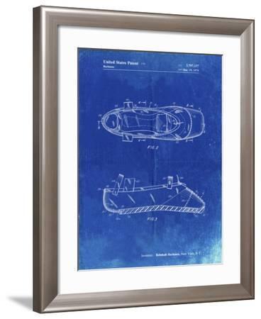 PP267-Faded Blueprint Ballet Slipper Patent Poster-Cole Borders-Framed Giclee Print