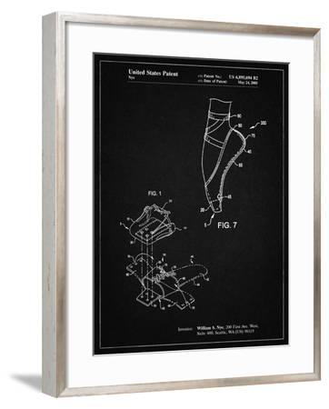 PP268-Vintage Black Ballet Shoe Patent Poster-Cole Borders-Framed Giclee Print