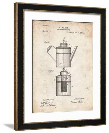 PP27 Vintage Parchment-Borders Cole-Framed Giclee Print