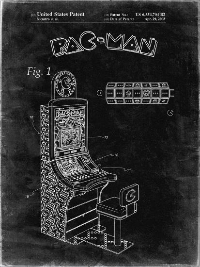 PP282-Black Grunge Fender Pedal Steel Guitar Patent Poster-Cole Borders-Giclee Print