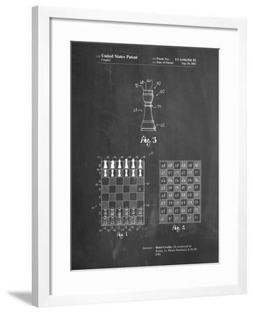 PP286-Chalkboard Speed Chess Game Patent Poster-Cole Borders-Framed Giclee Print