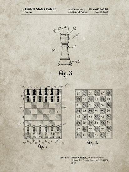 PP286-Sandstone Speed Chess Game Patent Poster-Cole Borders-Giclee Print