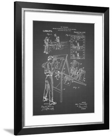 PP293-Black Grid Cartoon Method Patent Poster-Cole Borders-Framed Giclee Print