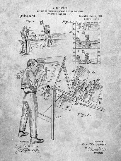 PP293-Slate Cartoon Method Patent Poster-Cole Borders-Giclee Print