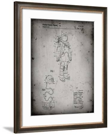 PP309-Faded Grey Apollo Space Suit Patent Poster-Cole Borders-Framed Giclee Print