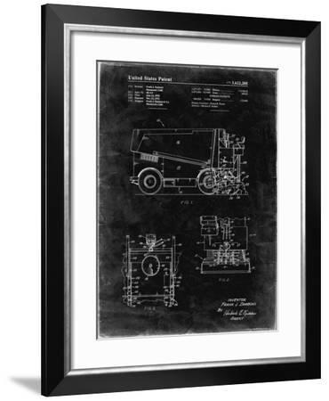 PP313-Black Grunge Ice Resurfacing Patent Poster-Cole Borders-Framed Giclee Print