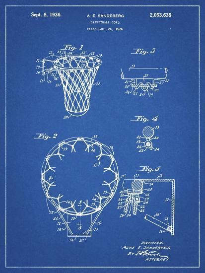 PP323-Blueprint Golden Gate Bridge Main Tower Patent Poster-Cole Borders-Giclee Print