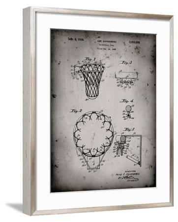 PP323-Faded Grey Golden Gate Bridge Main Tower Patent Poster-Cole Borders-Framed Giclee Print