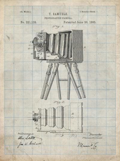 PP33 Antique Grid Parchment-Borders Cole-Giclee Print