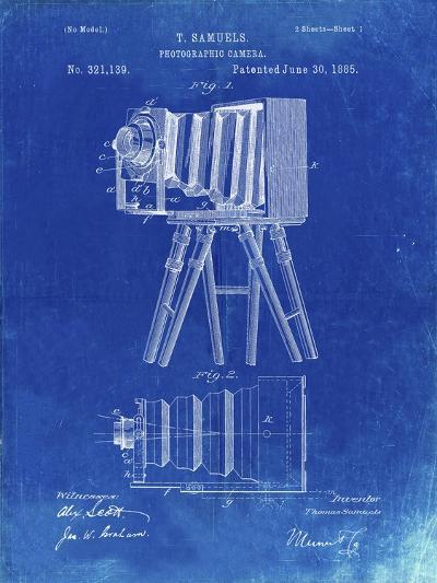 PP33 Faded Blueprint-Borders Cole-Giclee Print