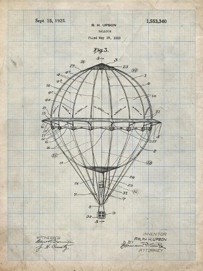 PP36 Antique Grid Parchment-Borders Cole-Giclee Print