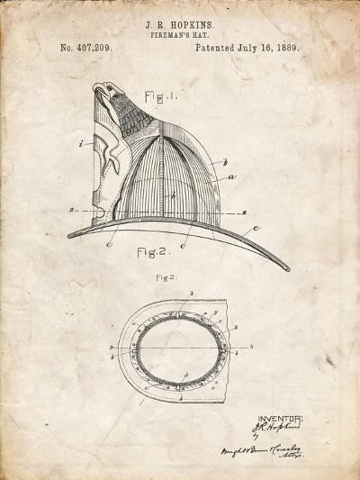 PP38 Vintage Parchment-Borders Cole-Giclee Print