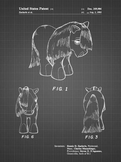 PP398-Black Grid My Little Pony Patent Poster-Cole Borders-Giclee Print