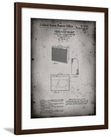 PP405-Faded Grey Fender 1962 Pro Amp Patent Poster-Cole Borders-Framed Giclee Print