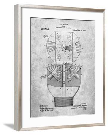 PP410-Slate Howard Hughes Oil Drill Patent Poster-Cole Borders-Framed Giclee Print