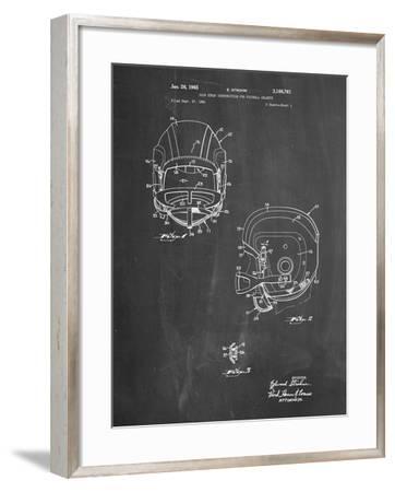 PP419-Chalkboard Face Mask Football Helmet 1965 Patent-Cole Borders-Framed Giclee Print