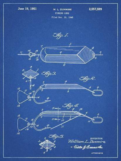 PP420-Blueprint Spoon Fishing Lure Poster-Cole Borders-Giclee Print