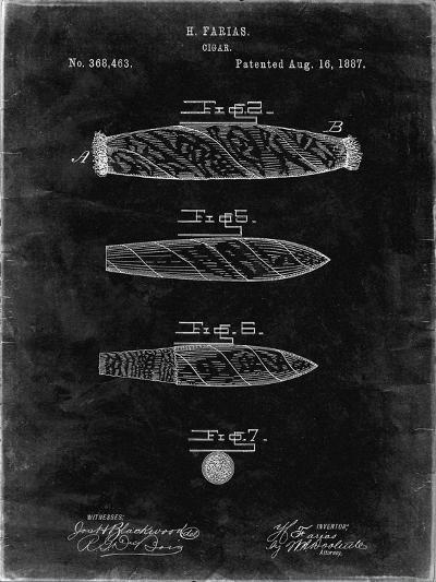 PP43 Black Grunge-Borders Cole-Giclee Print