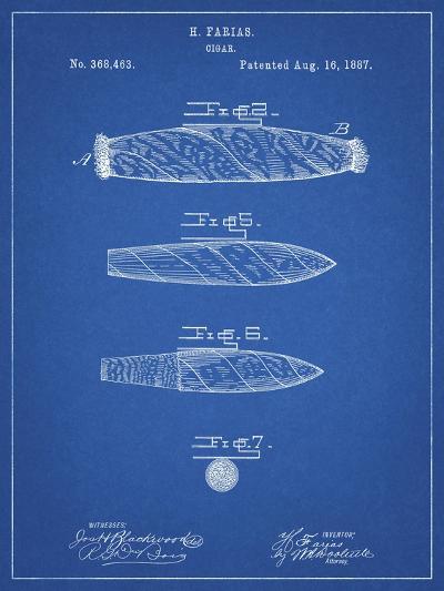 PP43 Blueprint-Borders Cole-Giclee Print