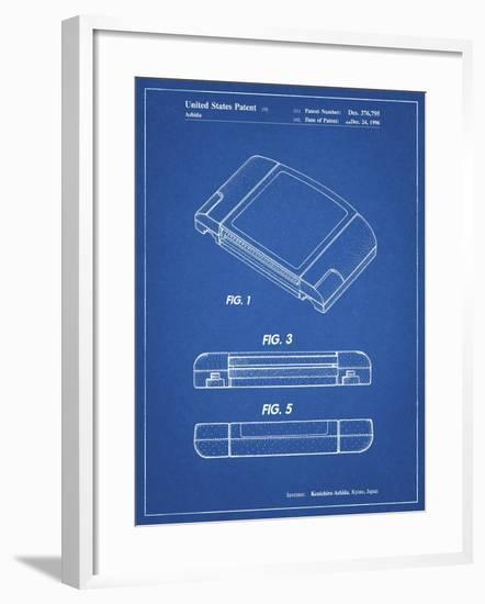 PP451-Blueprint Nintendo 64 Game Cartridge Patent Poster-Cole Borders-Framed Giclee Print
